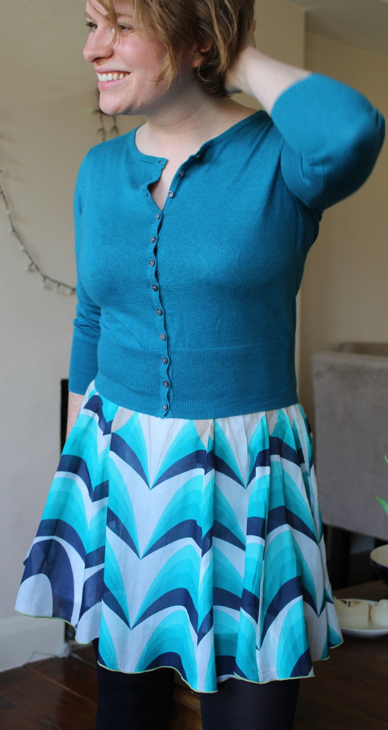 Refashioned pleated skirt