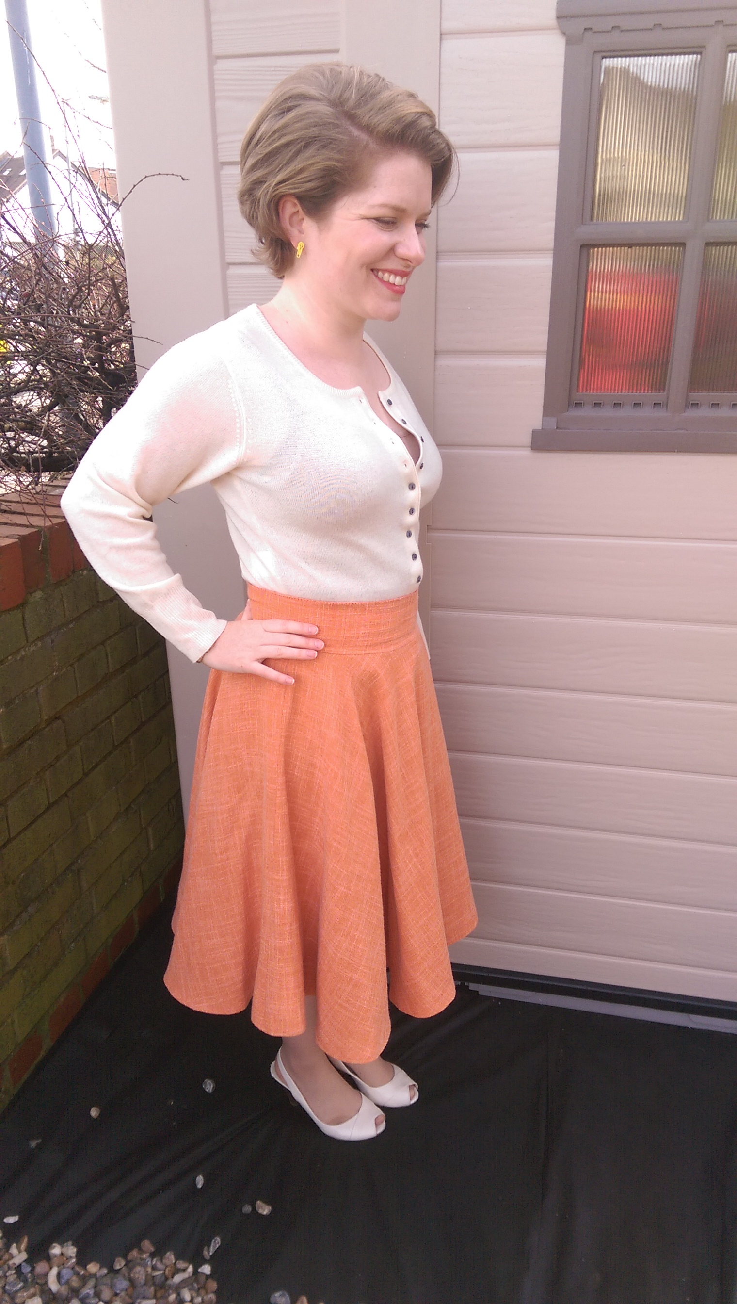 Self-drafted full circle skirt