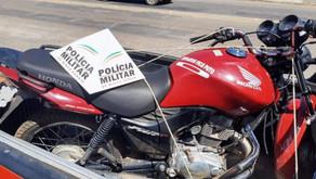 PM localiza motocicleta furtada e prende um em Santo Amaro