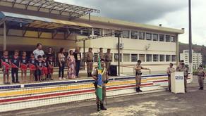 Polícia Militar de Manhuaçu realiza solenidade em comemoração ao Dia da Bandeira