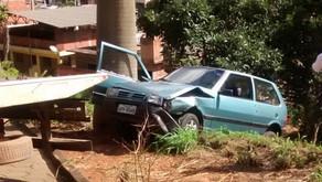 Motorista perde controle do veículo e quase capota em Realeza