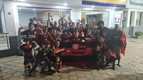 Torcida do Flamengo comemora o título em Realeza