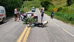 Motociclista sofre ferimentos graves em acidente na 262