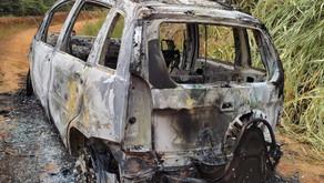 Carro é furtado em Santo Amaro e queimado em Vilanova