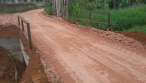 Secretaria de Obras entrega ponte na comunidade de Soledade