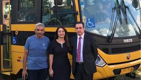 Prefeita Cici assegura sexto ônibus escolar para Manhuaçu