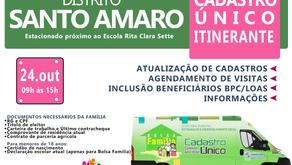 Atualização do Cadastro Único e Bolsa Família em Santo Amaro nesta quarta-feira