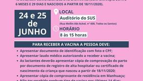 Manhuaçu vacinará as gestantes, puérperas e lactantes contra a Covid-19