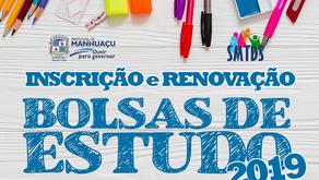 Seleção e renovação de Bolsas de Estudos da Prefeitura de Manhuaçu acontecerá em fevereiro