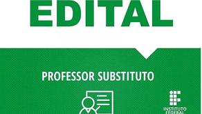 VAGA DE PROFESSOR SUBSTITUTO DE CIÊNCIA DE ALIMENTOS NO INSTITUTO FEDERAL EM REALEZA