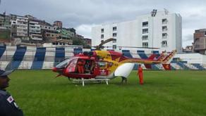 Helicóptero dos Bombeiros transfere criança de 1 ano picada por escorpião