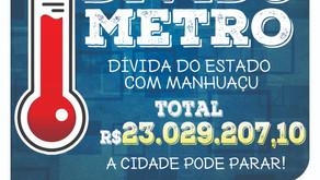 Divida do Estado com Manhuaçu cresce e passa dos R$ 23 milhões