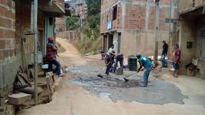 Diretor de Obras acompanha trabalhos no bairro Santa Terezinha