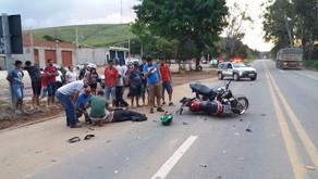 Acidente entre duas motocicletas em Vilanova