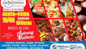 Nesta sexta tem Feira Gastronômica e Cultural em Manhuaçu