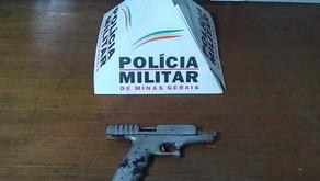 Polícia Militar apreende Pistola após denúncia de briga em um bar do distrito de Sacramento