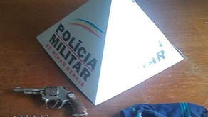 Polícia Militar apreende arma de fogo no distrito de São Pedro do Avaí