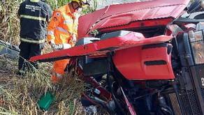 Bombeiros resgatam motorista preso às ferragens próximo a Bom Jesus de Realeza
