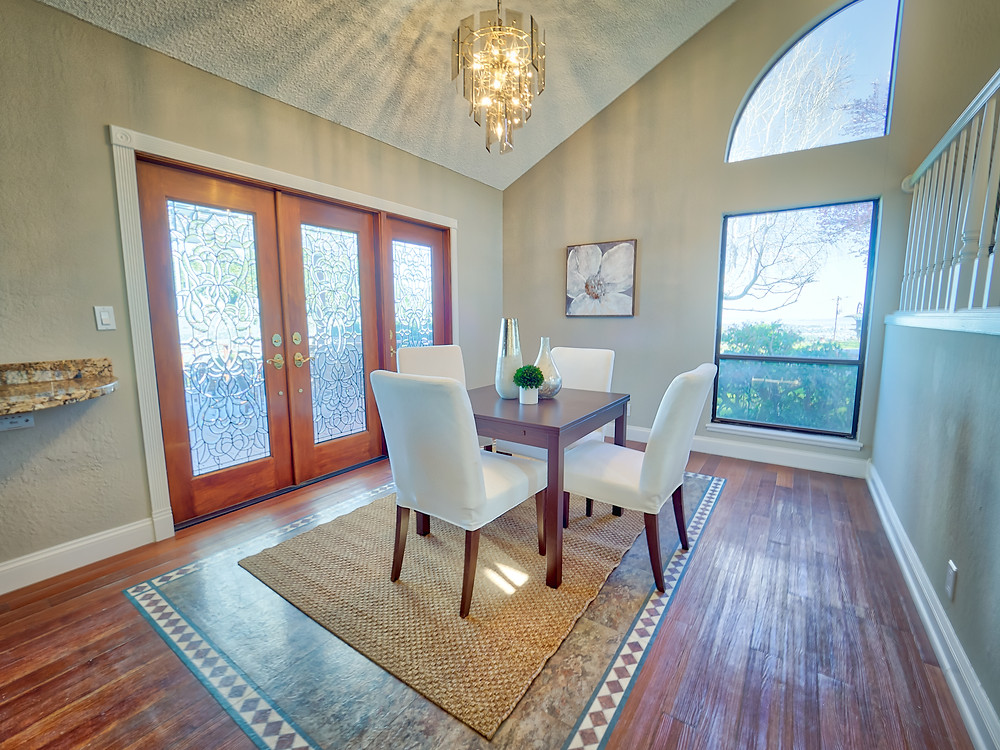 A beautifully staged dining room can come to life when captured on video.