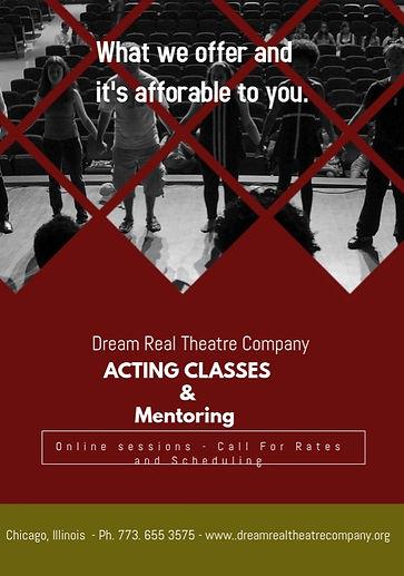 Copy of Theatre Art Acting Classes Flyer