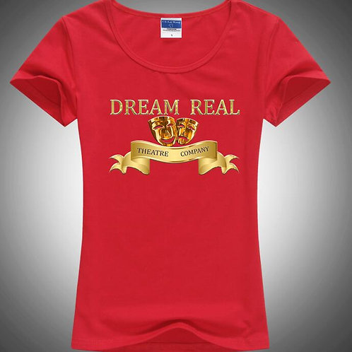Dream Real Theatre Company Women's Red T-Shirt