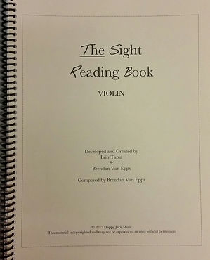 The Sight Reading Book by Brendan Van Epps and Erin Tapia