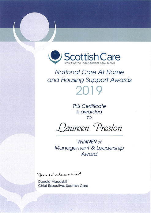 Scottish Care National Care at Home and