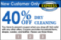 New Customer Coupon for Dry Cleaning.