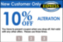New Customer Coupon for Alterations
