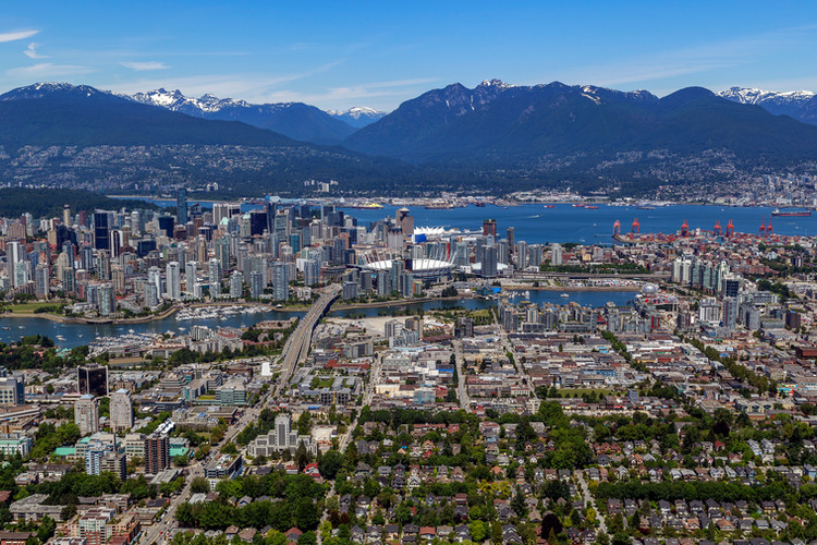 Vancouver Aerial Photography, Mt.Pleasant and Downtown Vancouver