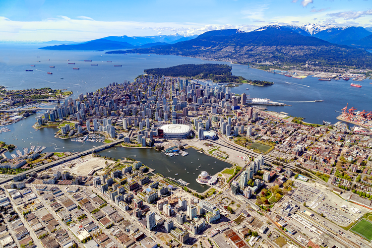 Vancouver Aerial Photography, Downtown Vancouver