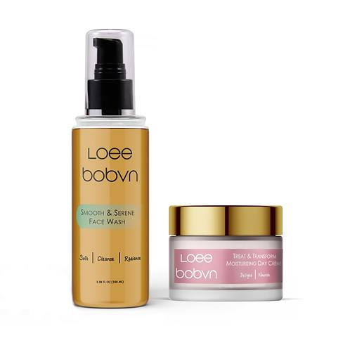 Smooth & Serene face wash and Treat & Transform Moisturizing day cream