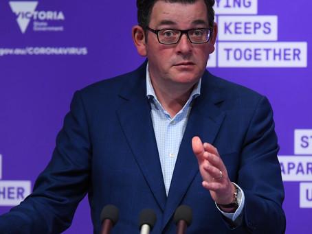 호주 빅토리아 주, 닷새간 긴급 봉쇄조치