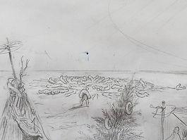 The Plague of Caragea_esquisse_detail_l'