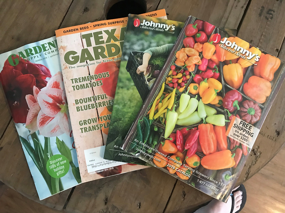 seed catalogs, great oaks farm, leander texas, blog