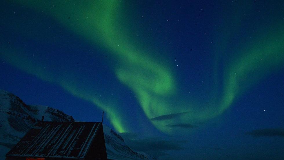 NORUEGA, SVALBARD, Auroras Boreales en Svalbard