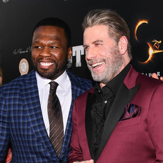 Gotti NYC Premiere. John Travolta & 50 Cent.
