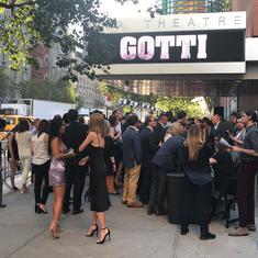 Gotti NYC Premiere. Theatre entrance gathering.