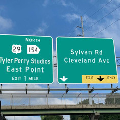 Tyler Perry Studios Highway Sign. On our way there! (January 2020).