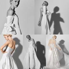 Carolina Herrera Wedding Dress Runway Show Images.