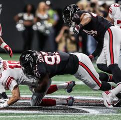 Atlanta Falcons at one of their 2018 Games.
