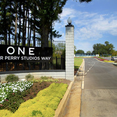 Tyler Perry Studios Tyler Perry Way  (Courtesy Tyler Perry Studios. January 2020).