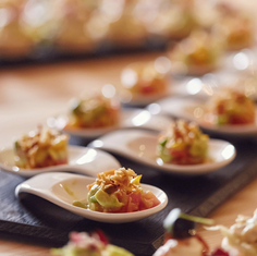 Our 2017 Entrepreneur Event. Food Shot from our fabulous caterer/chef.