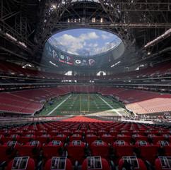 Mercedes Benz Arena. Atlanta, GA. Where the Falcons Play.