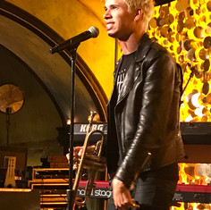 Musician Spencer Ludwig at Launch Party.
