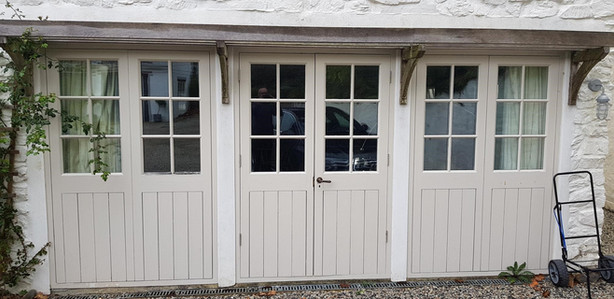 Wooden French Doors - Before