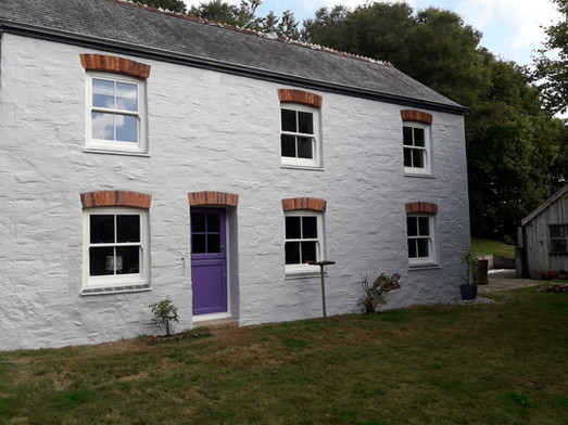 Sliding Sash windows and Coloured Door