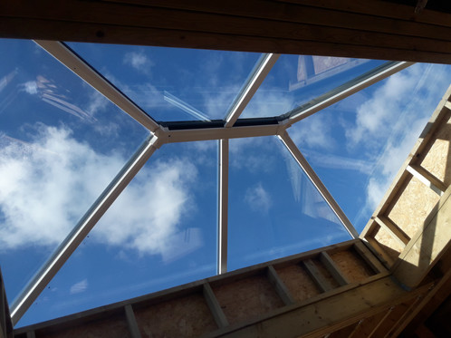 Large Roof Lantern from inside