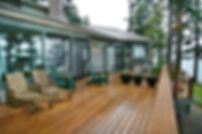 Echo Point Construction home with wooden deck