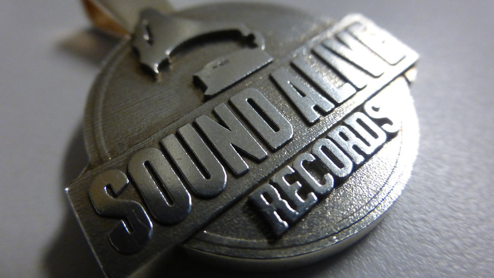 Sound Alive Records Sterling Silver 925 20G Pendant